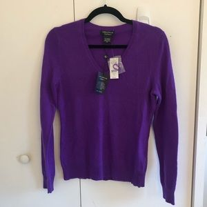 Lord & Taylor Cashmere Sweater Purple Size S